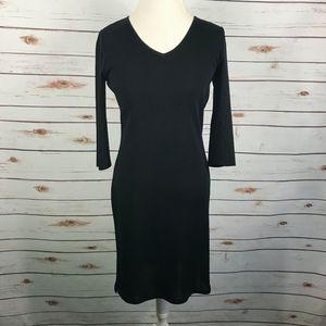 Ming Wang Black Jersey Knit Sheath Dress